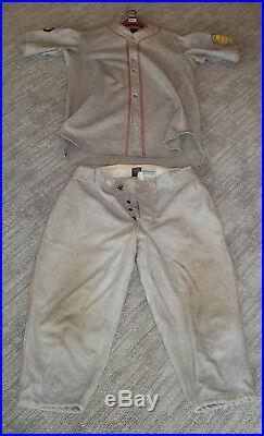 1925 PIRATES CLIFF KNOX GAME WORN JERSEY & PANTS With25 ANNIVERSARY PATCH