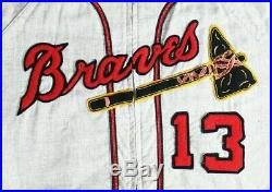 1957 Milwaukee Braves Game Worn Road Jersey BEAUTIFUL RARE