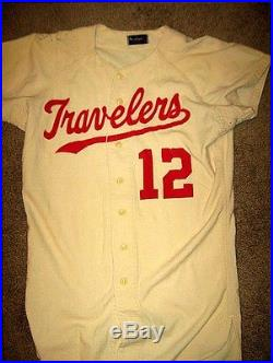 1960 ARKANSAS TRAVELERS GAME USED FLANNEL JERSEY-NICE CONDITION-#12