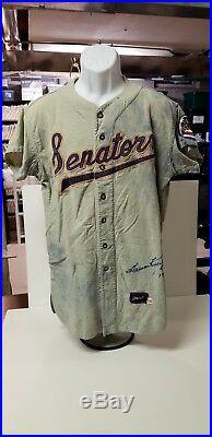 1960 Game Used Worn Jersey Washington Senators Don Mincher