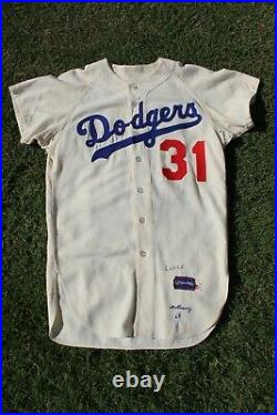 1964 Los Angeles Dodgers Home Game Used Worn Flannel Jersey Greg Mulleavy