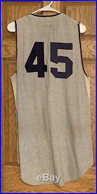 1964 Tom Kelley Cleveland Indians Game Used MacGregor Rookie Jersey Vest Size 44