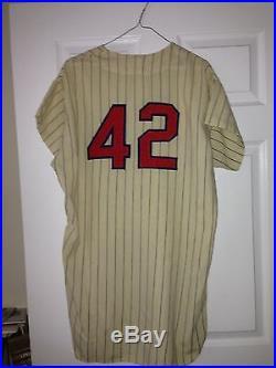 1965 Game Used Worn Signed Eddie Yost Washington Senators Flannel Jersey