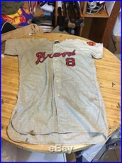 1965 Merritt Ranew Milwaukee Braves Original Game Worn Flannel Baseball Jersey