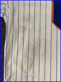 1967 Bart Shirley New York Mets Game Used Home Flannel Jersey #6 All Original