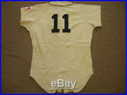 1968 Bill Freehan Detroit Tigers Game Worn #11 Home Jersey