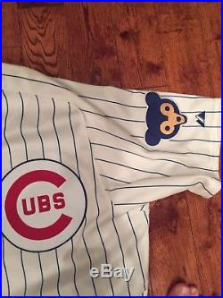 1969 (Game worn) Chicago Cubs Throwback Carlos Villanueva 2014 Jersey