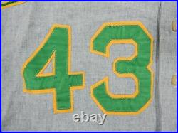 1969 Oakland Athletics Bobby Hoffman #43 Game Used Green Flannel 100 A P Removed