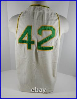 1969 Oakland Athletics Hank Bauer #42 Game Used White Flannel Jersey DP04045