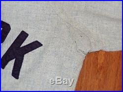 1970 NEW YORK YANKEES GAME USED FLANNEL BASEBALL JERSEY VINTAGE 1960s RON WOODS
