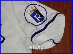 1970's GAME USED KANSAS CITY ROYALS FLANNEL BASEBALL JERSEY VINTAGE KELLER WORN