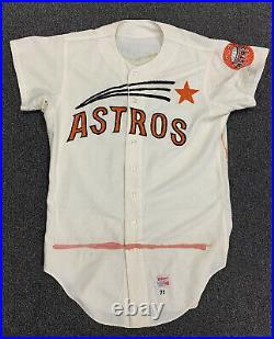 1971 Cesar Geronimo Houston Astros Game Used Home Flannel Jersey #20 NNOB