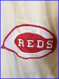 1971 Cincinnati Reds Flannel Game Worn Used Jersey Jimmy Stewart Cubs Astros