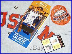 1971 GAME USED HOUSTON ASTROS FLANNEL JERSEY KEN FORSCH VINTAGE 1970s COLT 45s