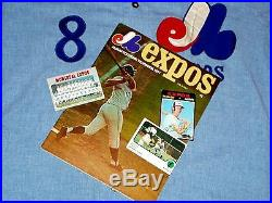 1971 GAME USED MONTREAL EXPOS FLANNEL JERSEY VINTAGE 1970s GARY CARTER WORN
