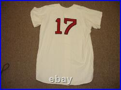 1972 Cecil Cooper Boston Red Sox Game Used Rookie Home Flannel Jersey #17