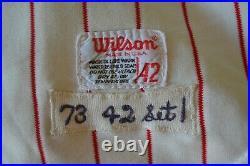 1973 Philadelphia Phillies Dick Selma Game Worn Jersey Set 1 Coa