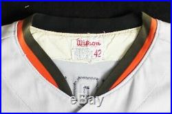1974 Andy Etchebarren Baltimore Orioles Game Used Worn Road Jersey (MEARS A9)