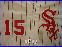 1974 Chicago White Sox Game Worn #15 HomeJersey Dick Allen