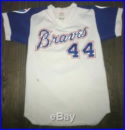 1974 Hank Aaron Game Used Worn Atlanta Braves Jersey Miedema LOA Record Season