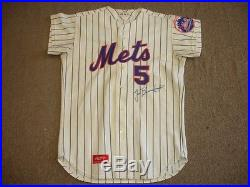 1974 Jim Beauchamp NY Mets Game Used Autographed Home Spring Training Jersey