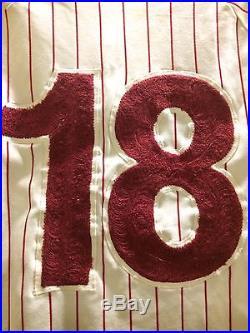 1974 Phillies Game Worn/used Jersey #18 Billy Grabarkewitz All Original Dodgers