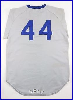 1975 BURT HOOTON CHICAGO CUBS VINTAGE WILSON GAME USED WORN ROAD JERSEY