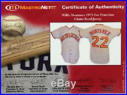 1975 Willie Montanez San Francisco Giants Game Used Worn Jersey