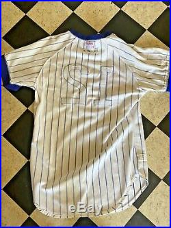 1976-77 Andres Thornton & Jerry Tabb Chicago Cubs game worn jersey withrare patch