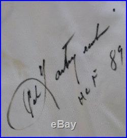 1976 Carl Yastrzemski Boston Red Sox Home Game Used Autographed Jersey -LOA