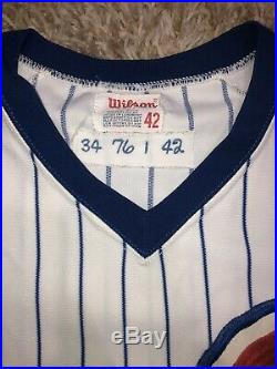 1976 Chicago Cubs Ray Burris Game Used Home Wilson Jersey Set 1