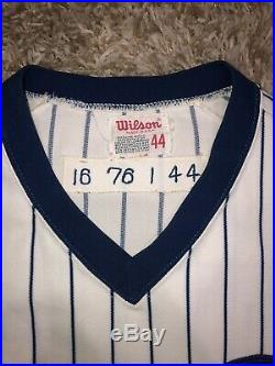 1976 Chicago Cubs Rob Sperring Game Used Home Centennial Jersey