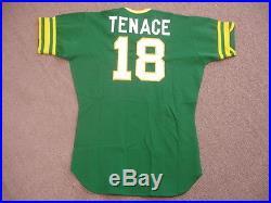1976 Gene Tenace Oakland As Spring Training Game Worn #18 Road Jersey