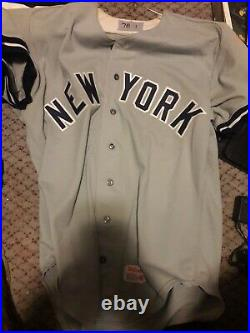 1976 NY Yankees Mickey Klutts Rookie Away Game Used Jersey
