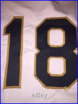 1976 Omar Moreno Pittsburgh Pirates ROOKIE Game Worn Used Jersey