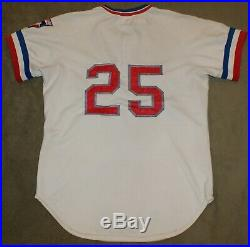 1977 Texas Rangers Game Used Worn Home Jersey Paul Lindblad