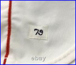 1979 DWIGHT EVANS GAME USED WORN and SIGNED RED SOX HOME JERSEY withNICE WEAR