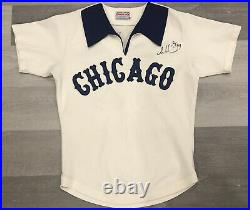1979 GAME WORN Thad Bosley Chicago White Sox Signed Baseball Jersey Sz 40