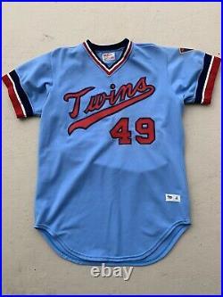 1979 Mike Marshall Game Used Worn Road Minnesota Twins Jersey Name & # Change