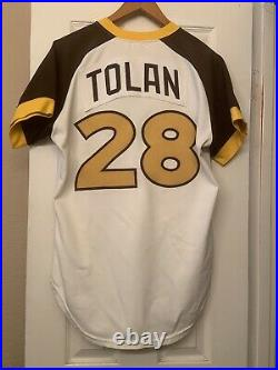 1979 San Diego Padres Jersey With Pants/ Game Used Worn Bobby Tolan