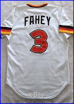 1980 BILL FAHEY Game Used Worn Padres Home Jersey #3 Rangers Tigers Giants