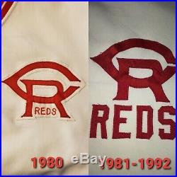1980 Cincinnati Reds Cedar Rapids Reds GAME USED WORN Jersey RARE