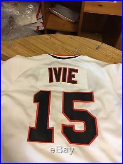 1980 Mike Ivie San Francisco Giants Mlb Baseball Orig. Game Worn Baseball Jersey