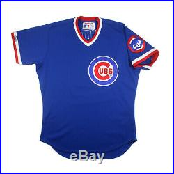 1980's Rare Chicago Cubs Game Worn Blue Vintage Road Jersey