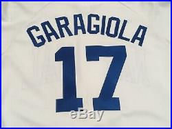 1980's size 48 #17 JOE GARAGIOLA Old Timers Game Worn Used autograph