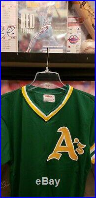 1980s Rickey Henderson Oakland Athletics GAME USED ISSUED BP Jersey