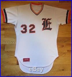 1981 Evansville Triplets Dennis Kinney Game Used Worn Jersey Detroit Tigers Aaa
