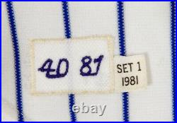 1981 New York Mets Mike Jorgensen #22 Game Used White Jersey