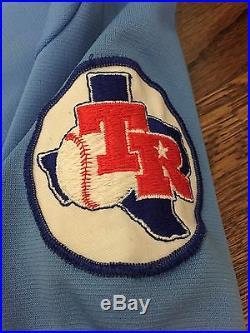 1981 Texas Rangers Game Worn Coach Jersey, Darrell Johnson #22, Wilson