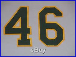 1982 Oakland A's Athletics Game Used Jersey Road Gray Charlie Metro #46 size 44